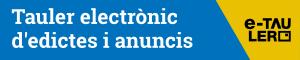 Botó tauler electrònic d'edictes i anuncis