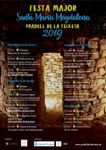 Cartell Festa Major Santa Maria Magdalena 2019