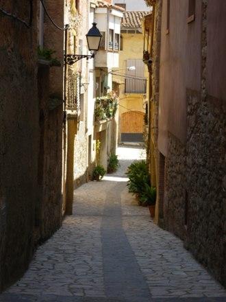 Detall carrer de la Bruguera