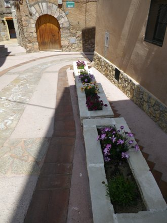 Jardineres de la pujada al Castell