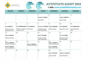 calendari activitats agost 2019