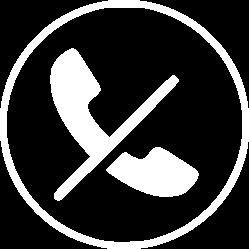 icona no telèfon blanc