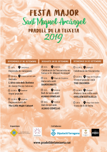 Cartell Festa Major Sant Miquel 2019
