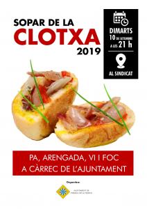 cartell sopar clotxa 2019
