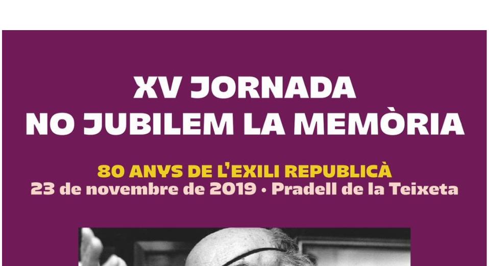 Banner XV Jornada No Jubilem La Memòria