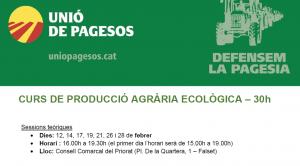 banner curs producció agrària ecològica