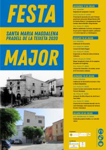Cartell DIN A3 festa major Santa Maria Magdalena 2020