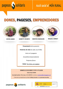 Cartell dones pageses emprenedores